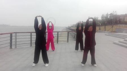 健身气功八段锦(潍坊滨海拳友演练)