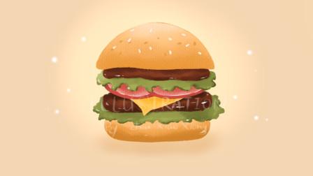 ipad手绘汉堡
