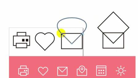 教你在Coreldraw中用剪切蒙版做图标,一个简单的信封就做好了