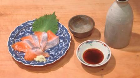 美食诱惑 日本料理 鲑鱼(九州生长)刺身现场制作过程 想来一口不?