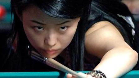 就喜欢看台球女神潘晓婷打台球,这开球的也太帅了吧