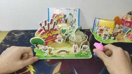 二木玩具20:小猪佩奇拼图,拼成了一个公园