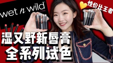 2019 Wetnwild 哑光硬核小黑管全试色!