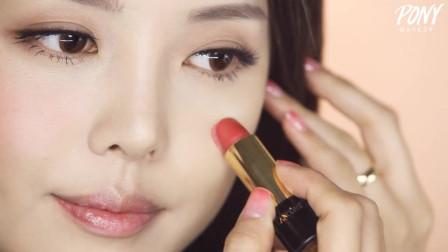 无暇底妆+润泽唇妆~~水润玫瑰感的妆容就该这么化!