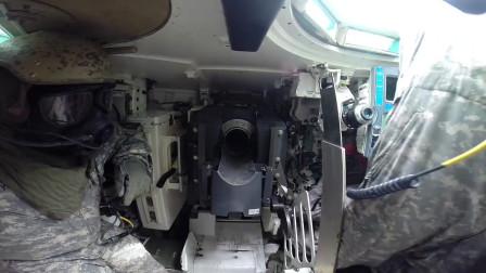 M1坦克内部实拍,实弹上膛射击全过程!