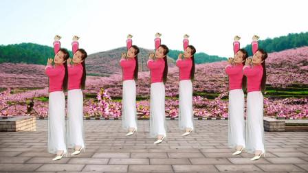 优美广场舞《桃花姑娘》美美美,十人看了九人醉