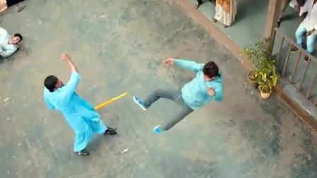 印度又一个打破物理定律的猛片被发现 拳拳到肉的动作 子弹打不到