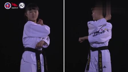 一步一步教你-跆拳道太极品势第一章-【示范团】 超清 跆拳道太极品势教学视频教程