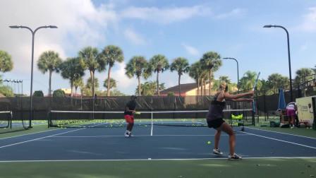 网球基本训练,教练教你网球守卫动作,手法娴熟!