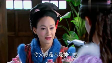 金莲盛妆出门,却被王婆误认是武松妻子,金莲听了这话害羞的笑了