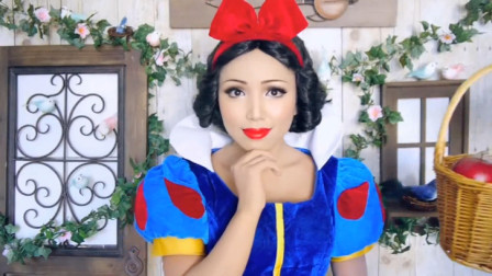 外国女子美妆秀,将自己打扮成高雅美丽的白雪公主,你心动了么?