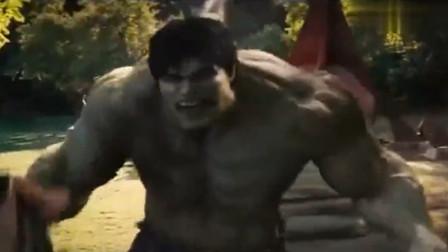 男子获得强化,以为自己能打赢绿巨人,结果被一脚踹飞