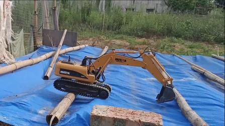 挖掘机表演视频