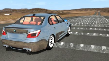 时速200公里的汽车驶过500个减速带会怎样?动画清晰模拟全过程!