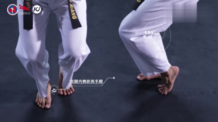5 跆拳道太极品势汉水视频-【示范团】一步一步学跆拳道太极高级品势汉水