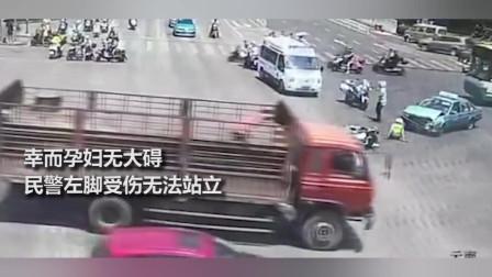 交警护送孕妇途中被出租车撞飞无法站立 含泪表示:我心甘情愿