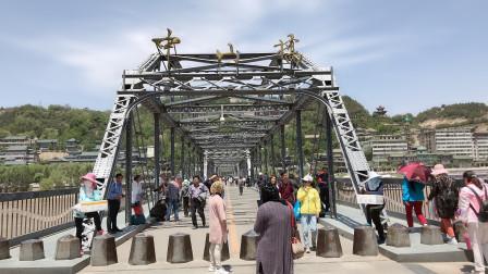 甘肃兰州千古黄河第一桥,仅次于上海的外白渡桥