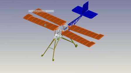 俄国扑翼机(Рарок - 2 3D 模型演示)2016年的