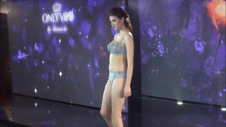 韩国国际时装周性感内衣发布会走秀,画一样美丽的模特,每一步都小心翼翼!