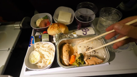 【屌丝吃大街】泰航飞机餐(烤金枪鱼套餐)-飞往日本札幌