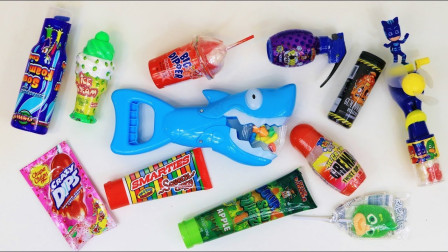 糖果 玩具鲨鱼 儿童玩具和儿童糖果 Mixing Crazy Candy shark candy dispenser toys