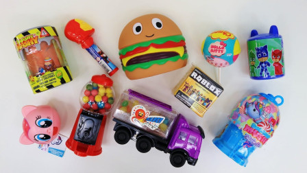 惊喜玩具 玩具和糖果 口香糖和铁人 Surprise toys and toy candy dispensers Gumball Machine Iro...