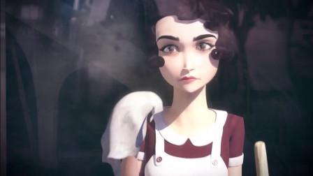 美丽动人的城堡女仆,扫地的样子都是那么美,门外的艺人快看呆了