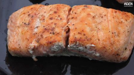 【后院厨房】挪威风格脆皮三文鱼