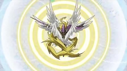 数码宝贝之究极进化!神圣天使兽究极进化炽天使兽!