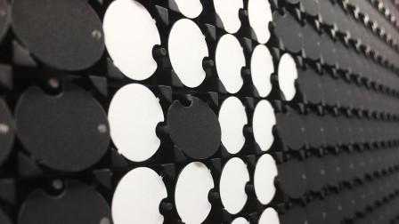 国家大数据项目圆形磁力翻转点阵屏/机械翻转点阵屏