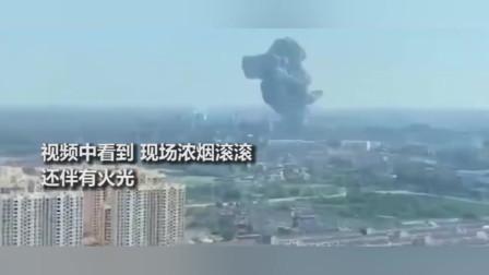 南昌一企业锅炉房突然起火爆炸,火蛇顺着巨大蘑菇云冲天而起