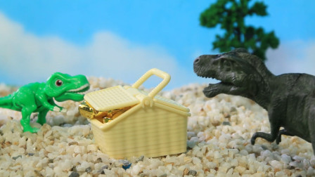 儿童节特辑:恐龙发现了这么多的金子!大小恐龙这下发财喽!