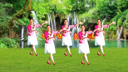 苗苗广场舞《爱情雨滴》时尚健身舞,欢快活泼俏皮,幸福满满