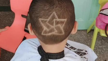 儿童理发雕刻-多边渐变作品-学员作品哦