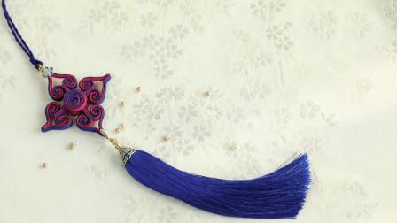 #盘扣# 不仅是#旗袍#上的一枚纽扣,盘扣饰品演绎 #手工盘扣#的另一种美