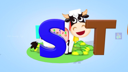 儿童歌曲学习儿童字母表与牛玩具字母表语音儿童歌曲