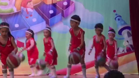 幼儿园舞蹈表演《篮球操》
