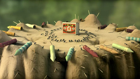 该动画拍摄了5年之久,片中没有一句台词,却不动声色打动观众