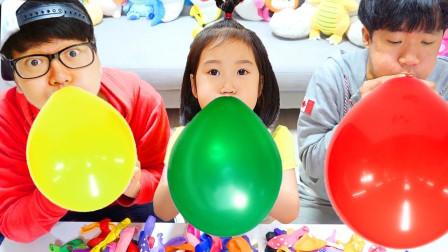 蓝儿童亲子萌宝乐园!一起来和小哥哥玩气球!