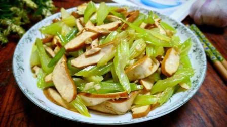 大厨教你芹菜炒香干的正宗做法,爽脆鲜嫩,出锅瞬间被抢光!