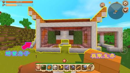 迷你世界:极限生存活了长达11天,天蝎座的我做了一个螃蟹房子