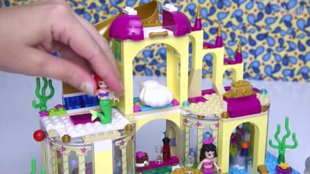 美人鱼,帮助美人鱼组装他们的海底城堡4