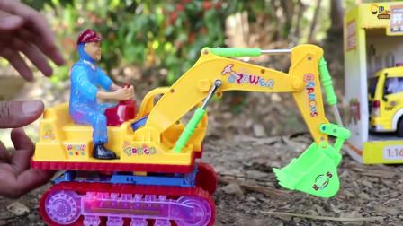 挖掘机起重机卡车救援车玩具建筑车辆自卸卡车