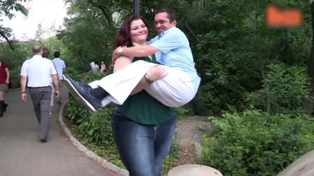 女子身高1.9米体重300斤,1.5米男友却不离不弃