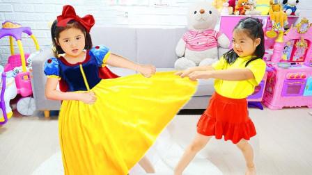 宝蓝儿童亲子萌宝乐园!和妹妹都想要同样的衣服!该怎么办!