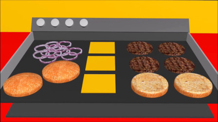 汉堡包和烧烤和儿童视频和儿童卡通