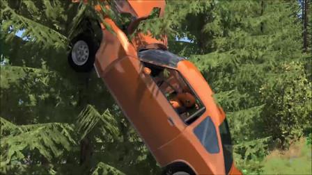 车祸模拟:汽车碰撞假人车祸测试