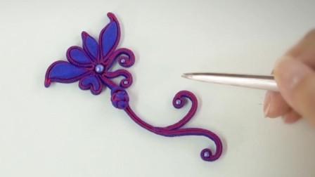 #DIY手工#盘扣,点缀出#旗袍#的细节之美