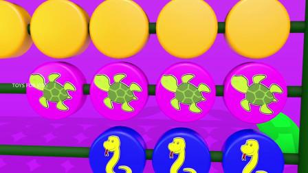 学习动物名称和数字与天鹅玩具集的孩子三维儿童教育玩具视频