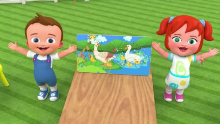 学习小宝宝的水果名称大象乐趣游戏冒险旅行墙3儿童